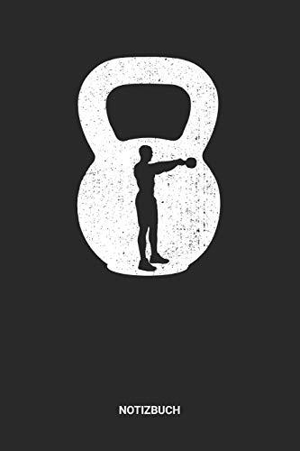 Notizbuch: A5 Notizheft mit punktierten Linien für Gewichtheben Freunde. Ideales Herzschlag Kugelhantel Journal oder Notizbuch. Perfektes Tagebuch ... Liebhaber Geschenkidee für Männer und Frauen