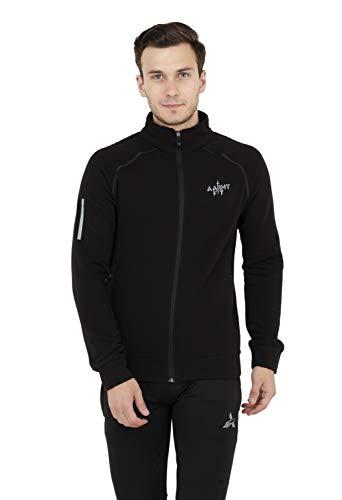 AARMY FIT Men's Solid Biker Jacket