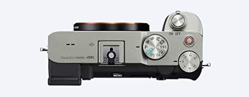 Sony Alpha 7 C - Fotocamera Digitale Mirrorless Full-frame, compatta e leggera, Real-time Autofocus, 24.2 MP, Stabilizzatore integrato a 5 assi, lunga durata della batteria (Argento)