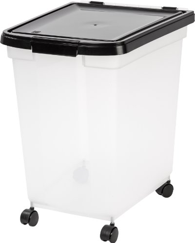 dog food containers IRIS USA Nesting Airtight Pet Food Container, 50-Pounds MP-400