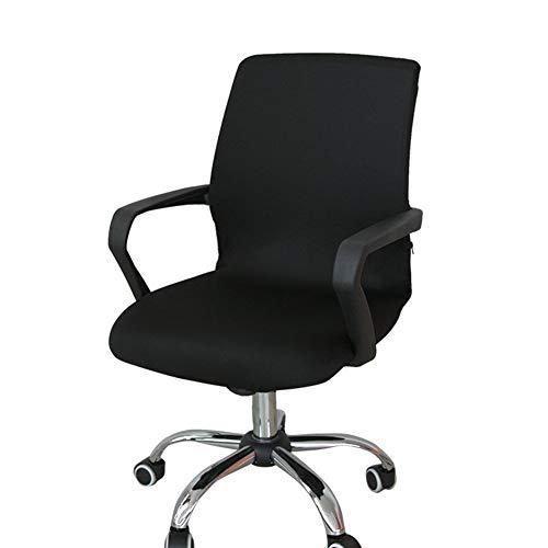 Funda para silla de escritorio de Zyurong, extraíble, lavable, protección para tu silla de oficina, giratoria y de escritorio, tamaño S (solo incluye la funda), negro, Small
