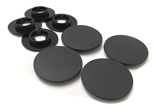 kh Teile 4X Fußmatten Befestigung passend für Nissan & Renault - Runde Druckknopf Halter Clips, Schwarz, Ober + Unterteile