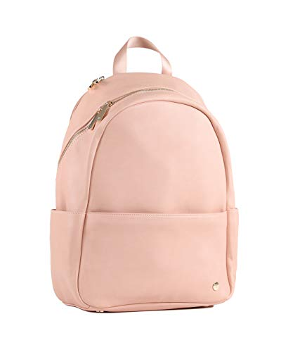 Little Unicorn   Skyline Backpack (Blush)   Diaper Bag   Premium Vegan Leather   5 Interior Storage Pockets