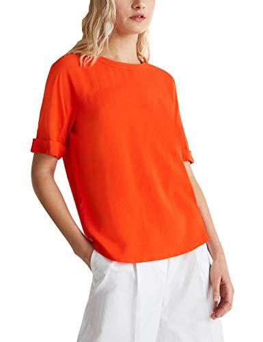 ESPRIT Collection Damen 040EO1F314 Bluse, 825/RED ORANGE, 36