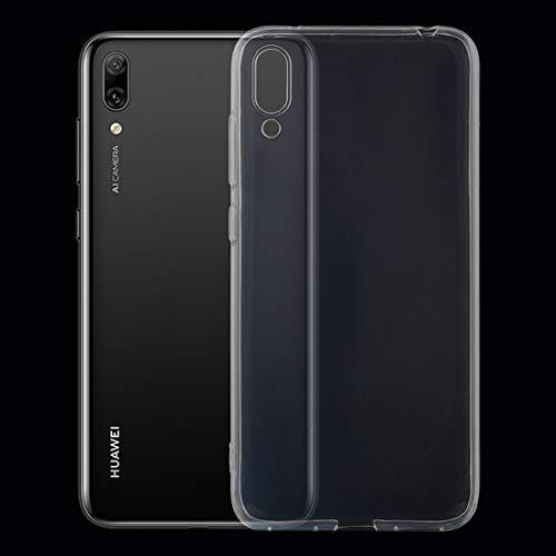 DELANSHI Mobiele telefoon beschermhoes compatibel met Huawei Gode 9 Caso 0,75 millimeter transparant TPU beschermhoes ultradun achterkant shell