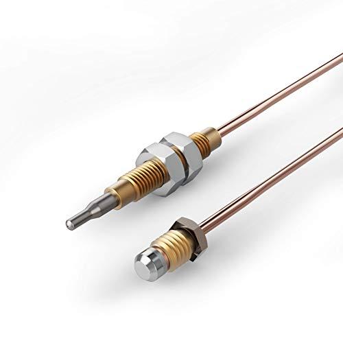 Premium Thermoelement Zündsicherung 220 mm biegsam mit Befestigungsmuttern