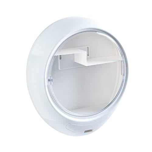 ZKHD Kreative Aufbewahrungsbox Für Kosmetika, Staubdicht An Der Wand, Große Kosmetische Vitrine, Wasserdicht Und Staubfrei Für Kommode, Schlafzimmer, Badezimmer,Weiß
