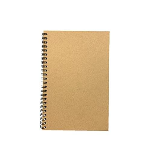 Copertura Black Card Spiral Notebook Student Sketchbook quotidiana Notepad Vita Memo ufficiale Notepad Diaries Disegno Sketchbook per casa di corsa per ufficio A5 Tipo 3pcs