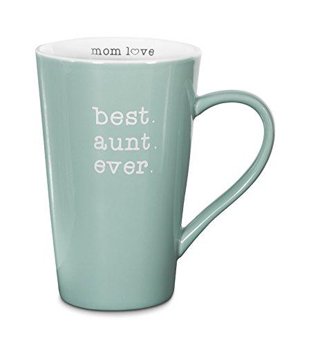 Pavilion Gift Company Best Aunt Ever Stoneware Latte Mug, 18 oz., Multicolored