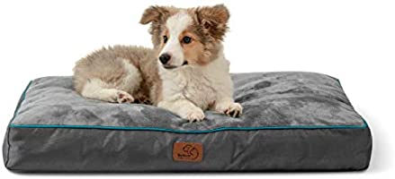 Bedsure Waterproof Dog Bed with Removable Washable Cover and Waterproof Liner, Dog Bed Pillows - Plush Fleece Top with...
