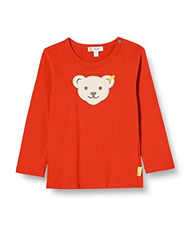 Steiff Jungen T-Shirt Langarm Langarmshirt, Rot (Grenadine 4012), 80 (Herstellergröße: 080)