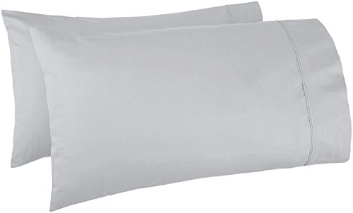 THREAD SPREAD 100% Egyptian Cotton 1000 Thread Count Ultra Soft Pillow Case Set - Durable and Silky Soft (Queen Size Pillowcases, Silver)