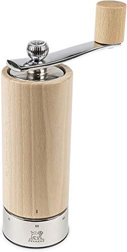 Peugeot Isen Manuelle Salzmühle, Klassische Mahlgradeinstellung, Höhe: 18 cm, Holz/Edelstahl, Natur, 37314