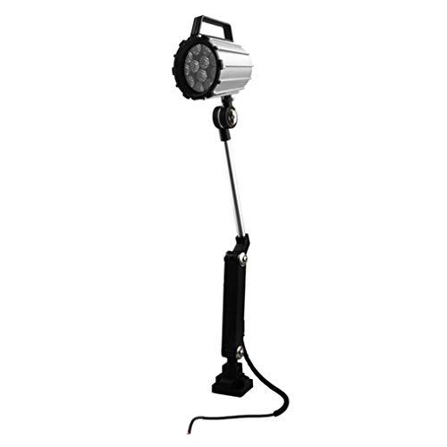 zhicheng shop Luces de Trabajo de máquina LED Plegables de aleación de Aluminio con manija e Interruptor, 12W 24V Equipo Impermeable de Brazo Largo Lámpara de Mesa Lámpara de luz