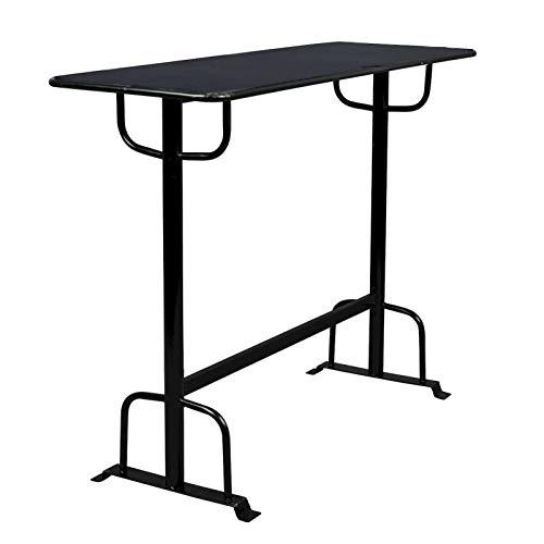 Declan metalen tafel zwart.