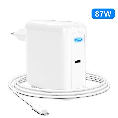 87W USB C Netzteil kompatibel mit MacBook Pro Ladegerät USB C, Arkidyn MacBook Air Ladekabel für iPad Pro 2018/2020, MacBook Pro 2019/2018/2017/2016, MacBook Air 2019/2018, MacBook mit Kabel