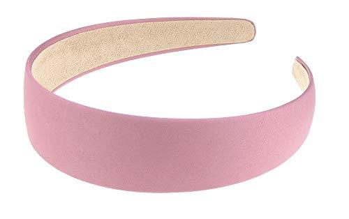 Glamour Girlz - Cerchietto da donna in raso largo 3 cm, colore: Rosa scuro