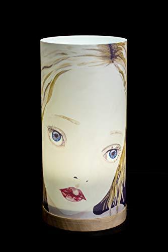 Stehlampe | Tischlampe | Stehleuchte | Tischleuchte | Nachtlicht | Lampenfassung mit GU 10 Sockel | Kabel mit Schalter | Plexiglas | Holzsockel | LED Beleuchtung