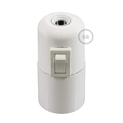 creative cables Kit Douille E27 en bakelite avec Interrupteur - Blanc