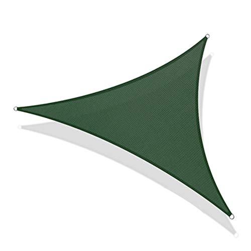 CYYAN Toldo Vela de Sombra Triangular, toldo con toldo de protección Solar, 95% de índice de sombreado, Transpirable, Resistente al desgarro, para toldo de jardín y Patio