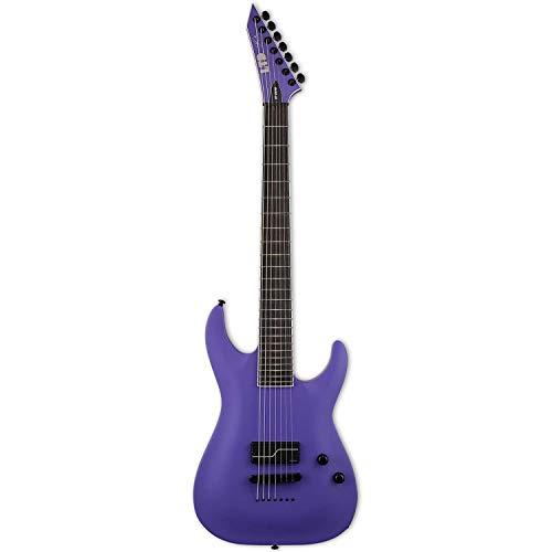 ESP LTD SC-607 Stephen Carpenter Barítono 1-Hum Guitarra Eléctrica con Funda, Satén Púrpura