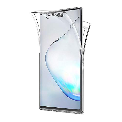AICEK Funda Compatible Samsung Galaxy Note10+, Transparente Silicona 360°Full Body Fundas para Samsung Note 10 Plus Carcasa Silicona Funda Case (6,8 Pulgadas)