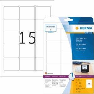 HERMA Zip-Disk-Etiketten weiß Special A4 VE=375 Stück