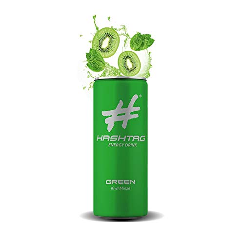 #Hashtag - Green Energy Drinks 250ml Dose   5 Geschmacksrichtungen   Softdrink   Drink   Getränk   Hype   EINWEG inkl. Pfand