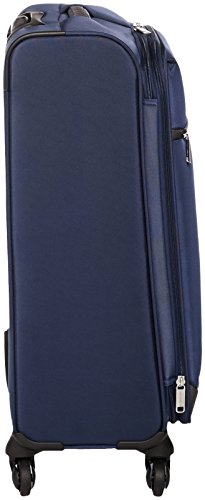 AmazonBasics Softside Spinner Luggage Suitcase - 25.9 Inch, Navy Blue