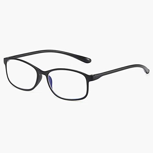 LGQ Gafas de Lectura con luz Azul Anti-Azul para Mujer, Montura TR90, Gafas para Ancianos de Moda ultraligeras/Anti-Fatiga portátiles de Alta definición, dioptrías +1,00 a +3,00,Negro,+2.50
