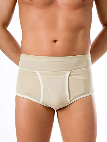 BeFit24® Slip para Hernia Inguinal para Hombres - [ Size 1 - Beige ]