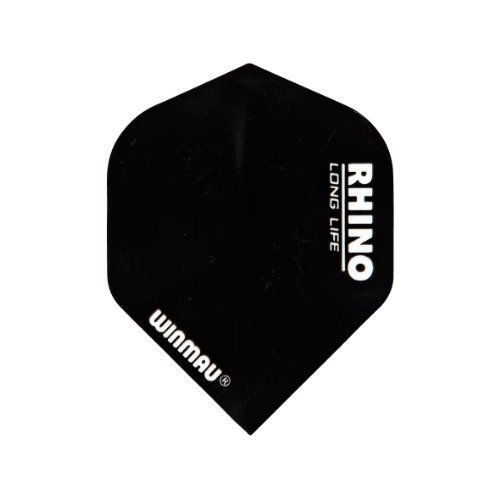 Winmau Rhino Long Life Standard Extra Thick Dart Flights (3 Sets of 3-9 Flights) (Black)