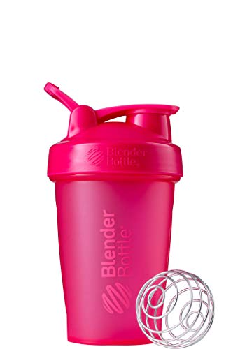 BlenderBottle Classic Loop Shaker cup / Diet Shaker / Protein Shaker with Blenderball 590ml capacity, scales up to 400ml - Fashion Pink