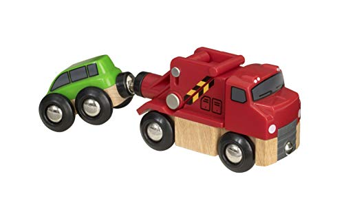 BRIO World 33528 - Trusty Tow Truck - Wooden Toy Train Accessory for Kids Ages 3 and Up