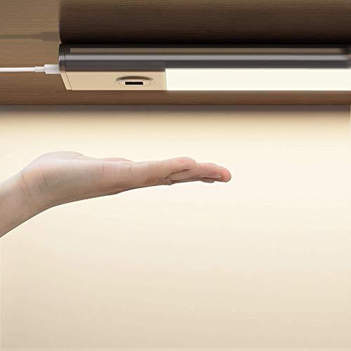 SOAIY LED dimmbar Küche Unterbauleuchte 30cm Küchenlicht mit 3 Lichtfarben Schrankleuchte mit Stecker An-/Ausschalten Dimmen per Handbewegung Magnet Lichtleiste für Küchenschrank Kleiderschrank