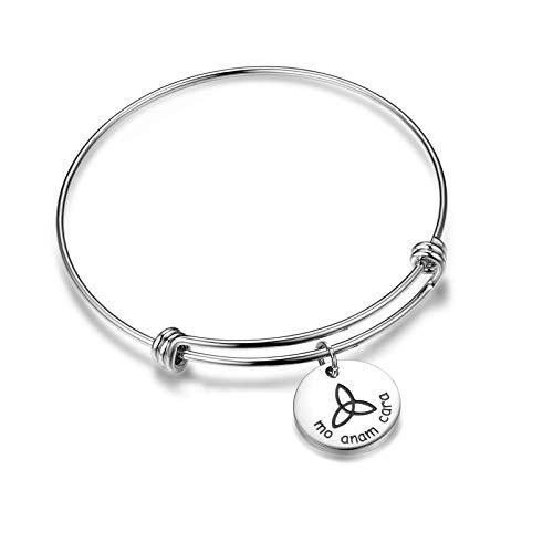 Mo ANAM Cara Bracelet Iris Celtic Soul Mate Bracelet BFF Gift for Her(Bracelet)