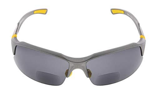 Eyekepper TR90 Irrompible Deportes Gafas de sol bifocales Béisbol Running Fishing Driving Golf Softball Excursión Half-Rimless Gafas lectura gris marco gris lentes +2.5