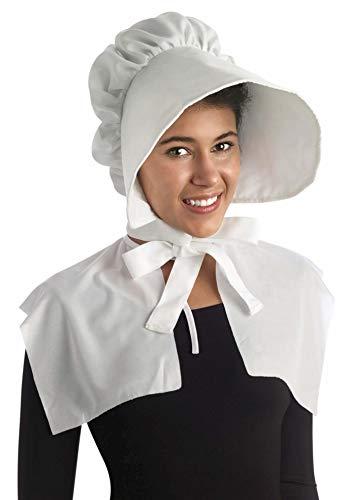 Forum Novelties womens Oversized Bonnet Costume Headwear, White, One Size US