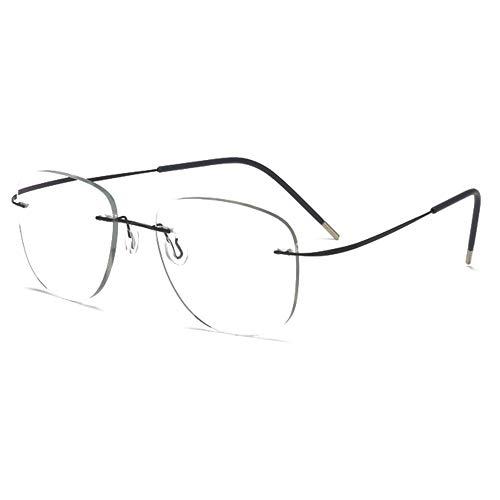 Gafas De Lectura Piloto Fotocromáticas Sin Montura Para Hombres Y Mujeres Gafas Ópticas Ultraligeras Y De Aleación Elástica Con Dioptrías +1,00 A +3,00