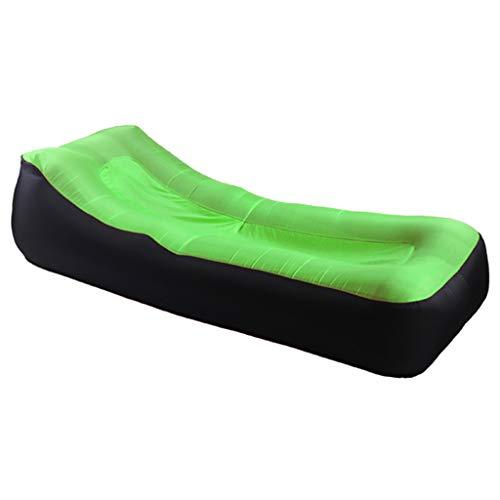 Sofá Inflable portátil/Cama con cojín reclinable para Siesta, Flotador de Piscina Inflable, sofá Impermeable y a Prueba de Fugas, Adecuado para Viajes, campamentos, Piscinas y Fiestas en la Playa