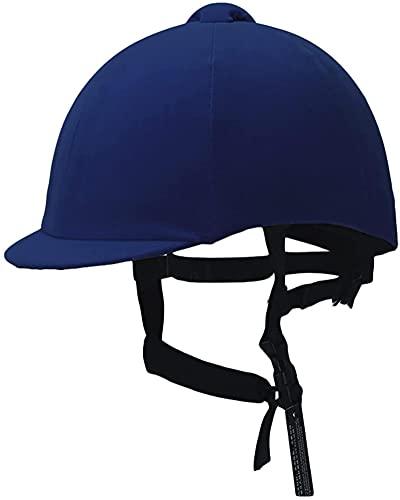 Casco Casco Azul Velvet Niños Ecuestre Sombrero Equipo Absorción Colisión Evitación Montar Casco Equipo Ecuestre Certificación CE 53 cm