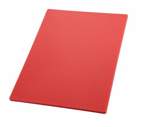 Winco CBRD-1218 Cutting Board, One Size, Red