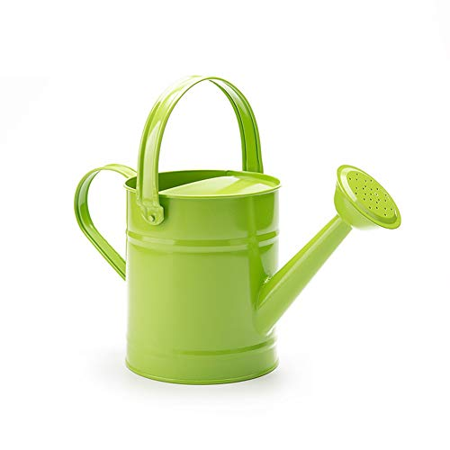 TETHYSUN Eisengießkanne, Kinder-Gartengießeimer, mehrfarbig, Metall-Gießkanne mit Rostschutz-Pulverbeschichtung, 1,5 Liter