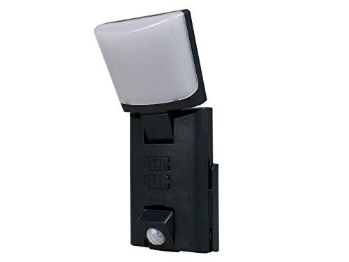 Noir Portable LED Outdoor Veilleuse/lampe d'orientation avec détecteur de mouvement, piles