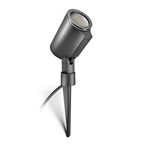 Steinel LED Strahler Spot Garden anthrazit, 7 W Bodenstrahler mit Erdspieß, 520 lm Spotlight, Garten Spot schwenkbar