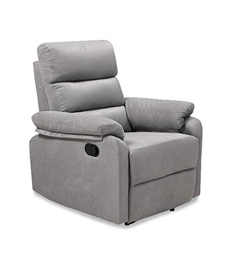Home Theatre Adjustable Eletric Recliner Power Lift Soft Fabric Chaise Couch Lounger Sofa Chair with Thick Cushion, Pillow and Armrest…(Grey)