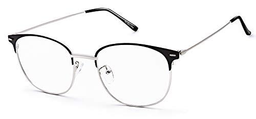 Ardermu Blaulichtfilter Brille - Computerbrille, Metallrahmen Blaulicht Blockierende Brille, Blendschutz Ultraviolett-Strahlenfilter Nicht-Vergrößerungsbrillen, Augenbelastung Brillen - Unisex
