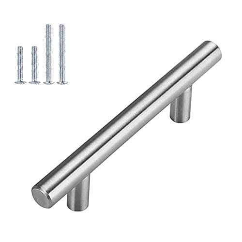 Tiradores para puerta de armario o cajón, 15 unidades, distancia entre ejes: 192 mm, de acero inoxidable, para armarios de cocina, armarios, tiradores