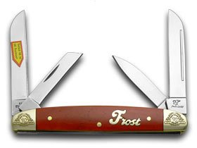 Frost Family 40th Anniversary Dark Red Smooth Bone 1/600 Congress Pocket Knife Knives