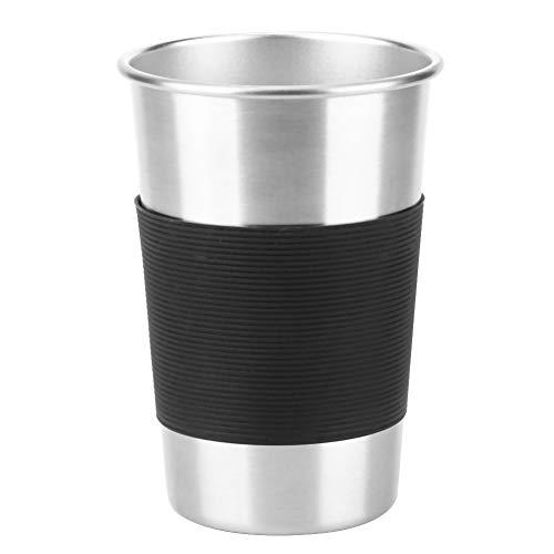 Botella Taza Funda Antideslizante CoffeeTea Silicona Negro Protector De La Cubierta De La Taza De Agua 10Pcs